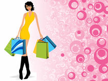 Fashion woman pose wallpaper Royalty Free Stock Images