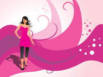 Fashion woman pose wallpaper Royalty Free Stock Image
