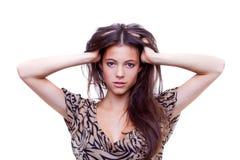 Fashion woman is posing Stock Image