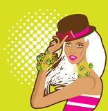 Fashion woman pretty girl illustration Stock Images