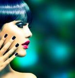 Fashion Woman Profile Portrait Royalty Free Stock Image