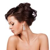 Fashion Woman Profile Portrait. Royalty Free Stock Photography