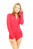 Fashion woman in red Stock Photos