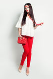 Fashion Woman in Red Royalty Free Stock Image