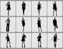 Fashion woman set Royalty Free Stock Photos