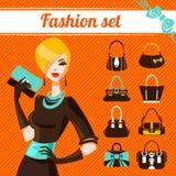 Fashion woman set Royalty Free Stock Image