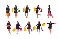 Fashion woman set with bags Stock Images