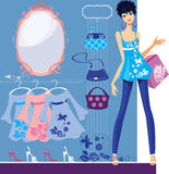 Fashion woman in shop bags Royalty Free Stock Photography