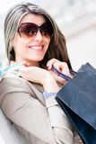 Fashion woman shopping Stock Photo