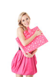 Fashion woman with shopping bag Royalty Free Stock Photo