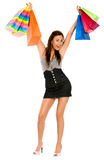 Fashion woman with shopping bags Royalty Free Stock Image