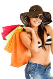 Fashion woman with shopping bags Stock Images
