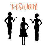 Fashion woman silhouette in business style Royalty Free Stock Image