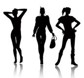 Fashion woman silhouette set Stock Photography