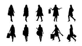 Fashion woman silhouette set Stock Photo