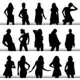 Fashion woman silhouettes Stock Photography