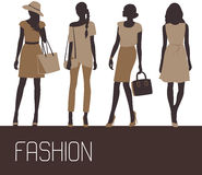 Fashion woman solhouettes. Royalty Free Stock Photography