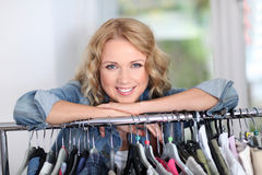 Fashion woman in store Royalty Free Stock Images