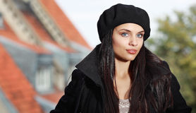 Fashion woman in street Royalty Free Stock Image