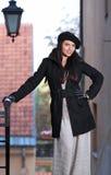 Fashion woman in street stock photo
