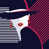 Fashion woman in style pop art. Vector illustration Stock Photo