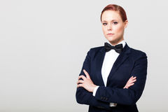 Fashion woman in suit Stock Image