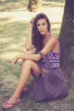 Fashion woman summer Royalty Free Stock Images