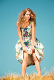 Fashion woman  summer day Royalty Free Stock Images