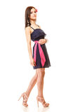 Fashion woman in summer dress and high heels Royalty Free Stock Photography