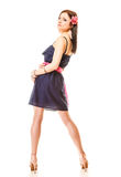 Fashion woman in summer dress and high heels Stock Photography