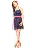 Fashion woman in summer dress and high heels Royalty Free Stock Image