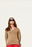 Fashion woman on sun Royalty Free Stock Images
