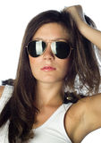 Fashion woman with sunglasses Stock Image