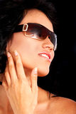 Fashion woman - sunglasses Royalty Free Stock Photography