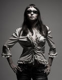 Fashion woman in sunglasses Stock Image