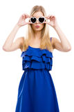 Fashion woman with sunglasses Stock Photo