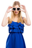 Fashion woman with sunglasses Stock Photography