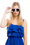 Fashion woman with sunglasses Stock Images