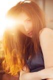 Fashion Woman in Sunlight Stock Photo