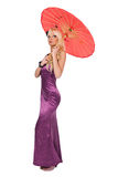 Fashion woman with sunshade Stock Photos