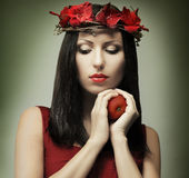 Fashion woman - temptation. Beautiful face stock images