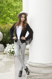 Fashion woman with trendy casual clothes Royalty Free Stock Photos
