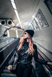 Fashion woman in the tube Stock Photos
