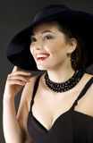 Fashion woman wearing hat Royalty Free Stock Photos