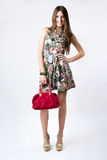 Fashion woman wearing a pretty spring dress Stock Photography