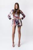 Fashion woman wearing a pretty spring dress Stock Photos