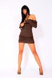 Fashion woman wearing short dress Stock Photos