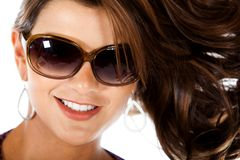 Fashion woman wearing sunglasses Stock Photography