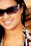 Fashion woman wearing sunglasses Stock Images
