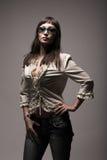 Fashion woman wearing sunglasses Stock Image